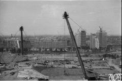 1971 li. Olympiastadion, Mitte -Halle, hinten-Olymp. Dorf