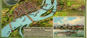 Bild Reliefkarte des Rheines von Mainz bis Köln 1926